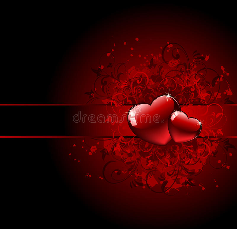 Valentines Day grunge Heart stock illustration