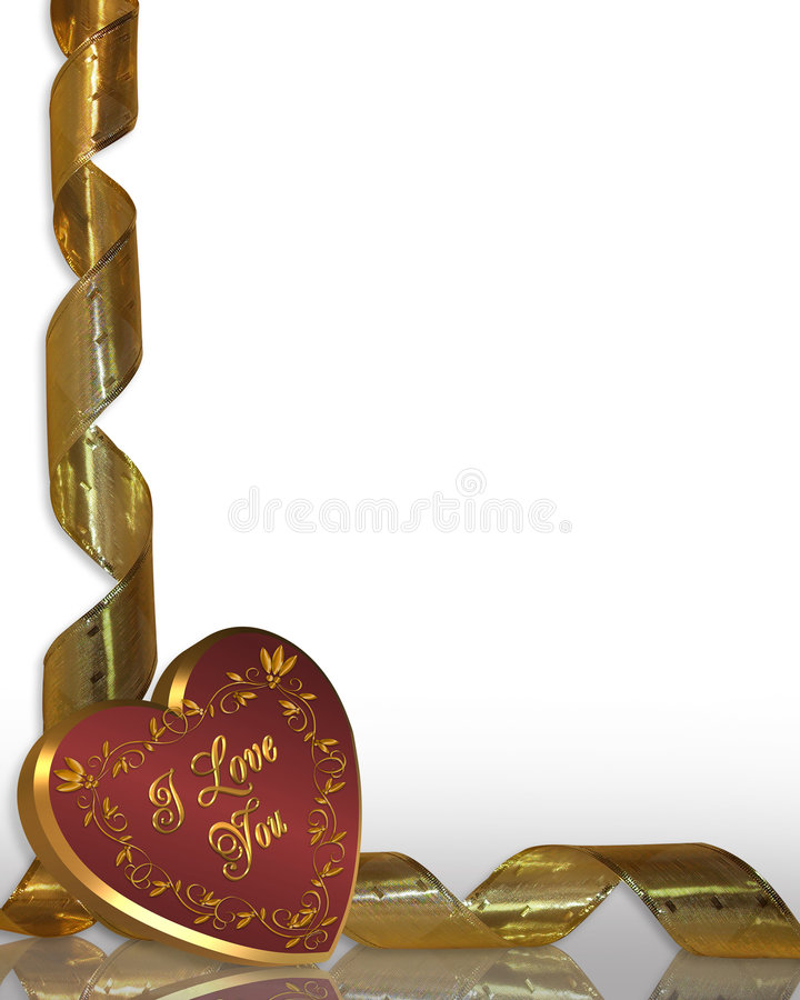 Valentines Day Heart Border royalty free stock photos