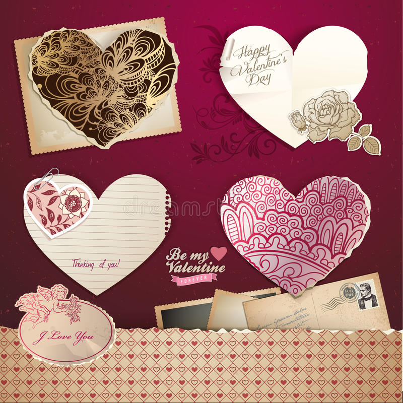 Download Valentines Day Hearts And Elements Stock Illustration - Image: 22912083