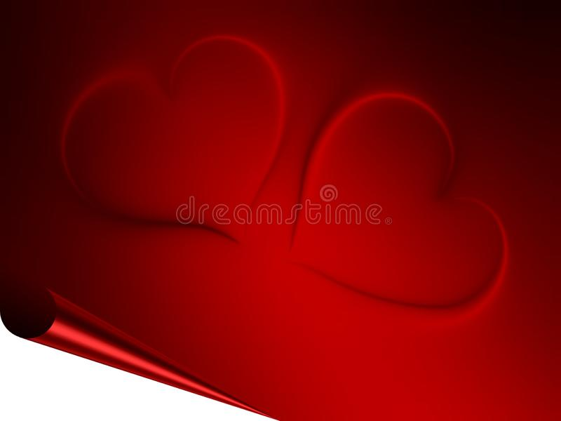 Valentines day hearts on red and black shaded background. Abstract info graphics template design. many uses for advertising, book page, paintings, printing royalty free stock photography