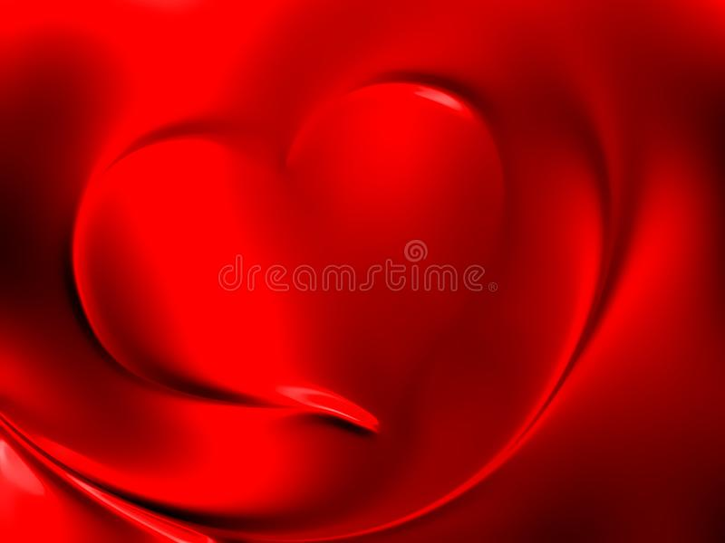 Valentines day hearts with shaded background. stock illustration