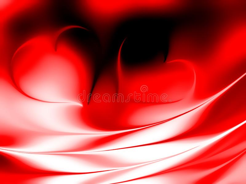 Valentines day hearts with shaded background. vector illustration