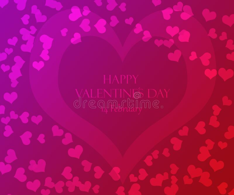 Happy Valentines Day Hearts Theme Background Card Design royalty free stock photo
