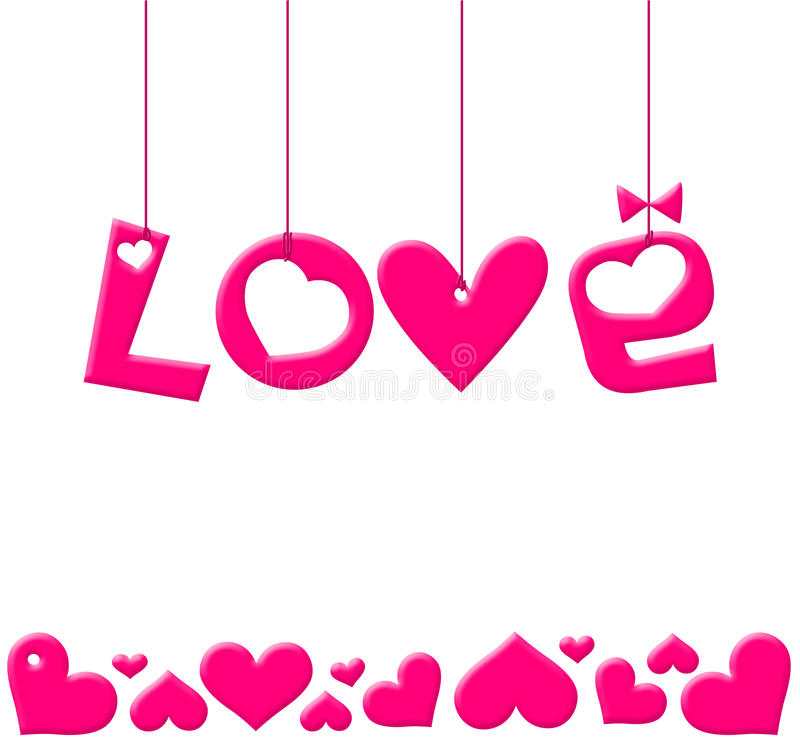 Valentines Day illustration stock photo