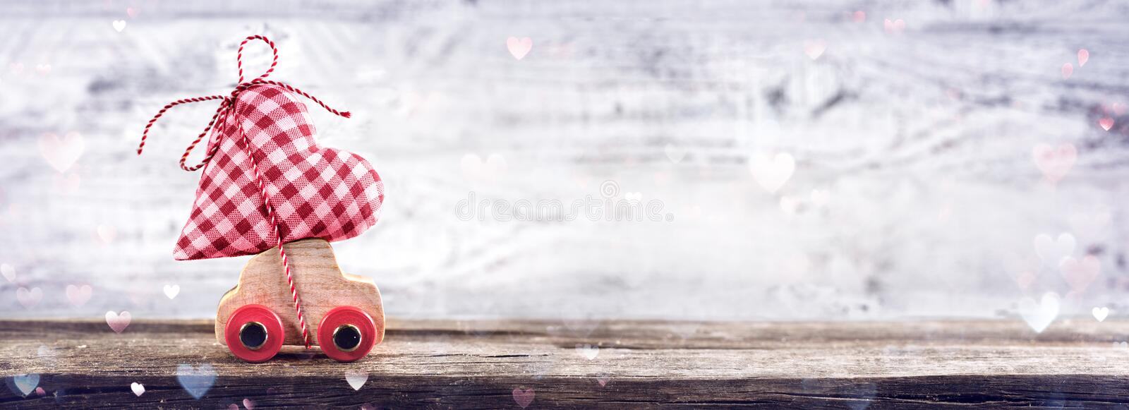 Download Valentines Day Incoming - Miniature Car Stock Photo - Image: 83705265