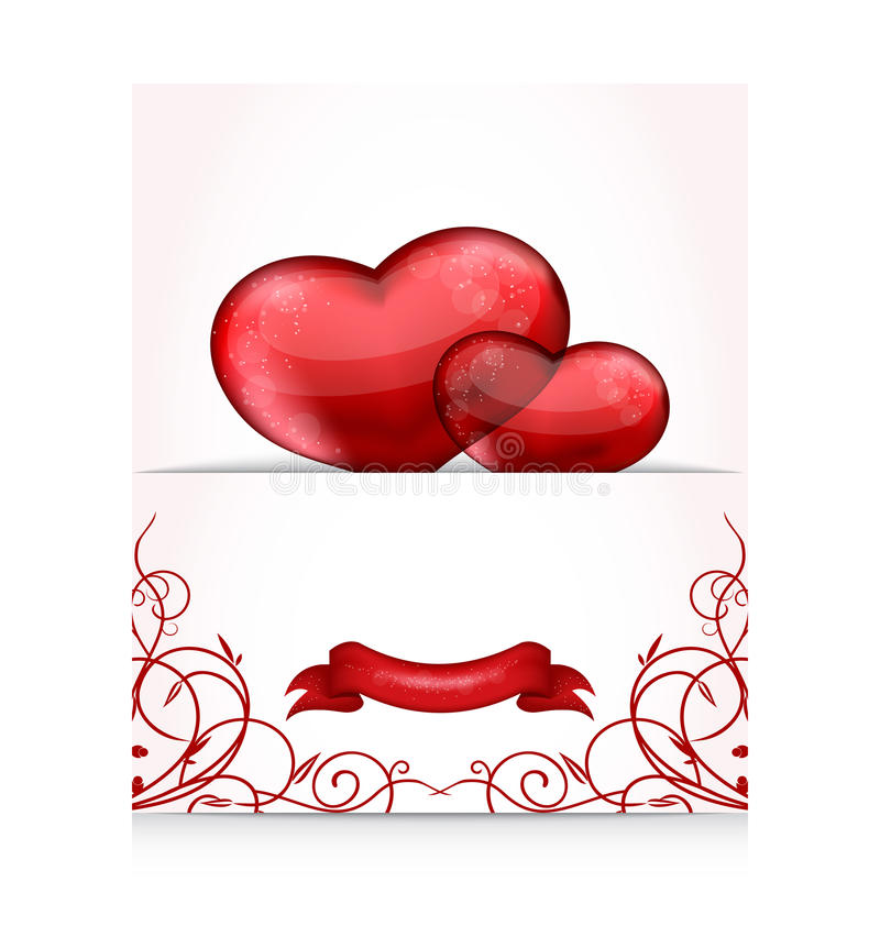 Download Valentines Day Letter With Hearts Stock Vector - Image: 28729764