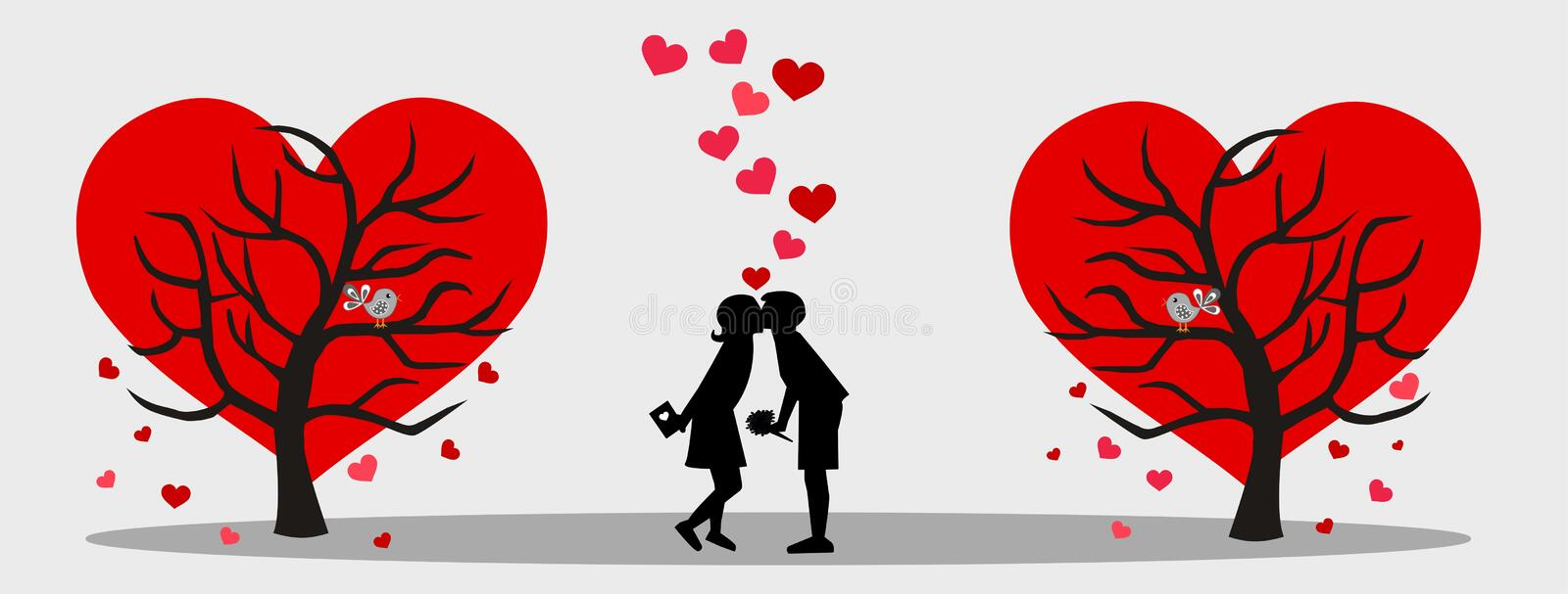 Valentines day love stock image