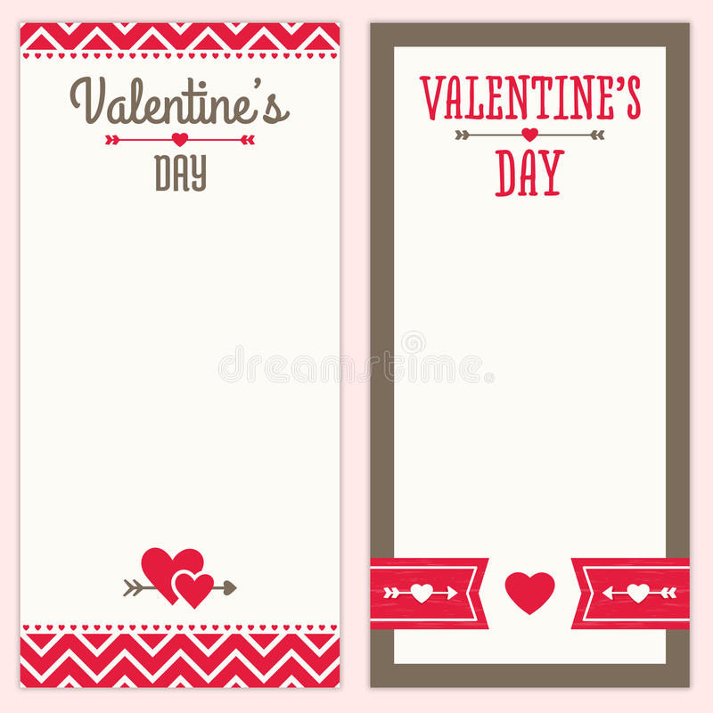 Valentines Day Menu Or Invitation Designs In Red A Stock Vector - Valentine's day invitation template