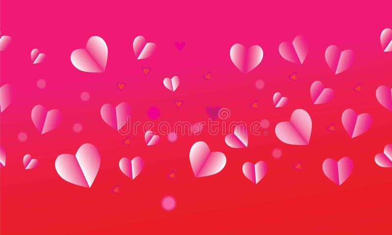 Valentines Day, Mother`s day, holiday, birthday, anniversary, wedding day card template. Romantic love symbols pink r vector illustration