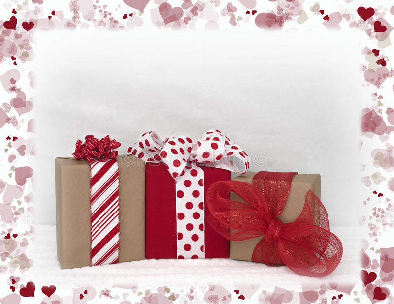 Valentines Day packages stock images