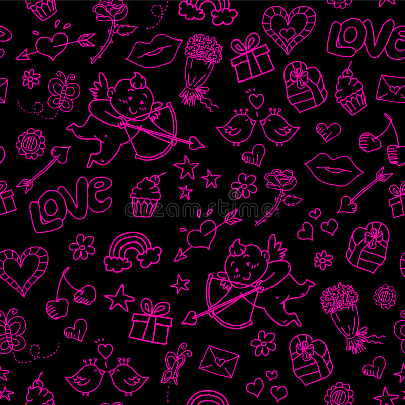 Download Valentines Day Pattern Royalty Free Stock Images - Image: 23130139