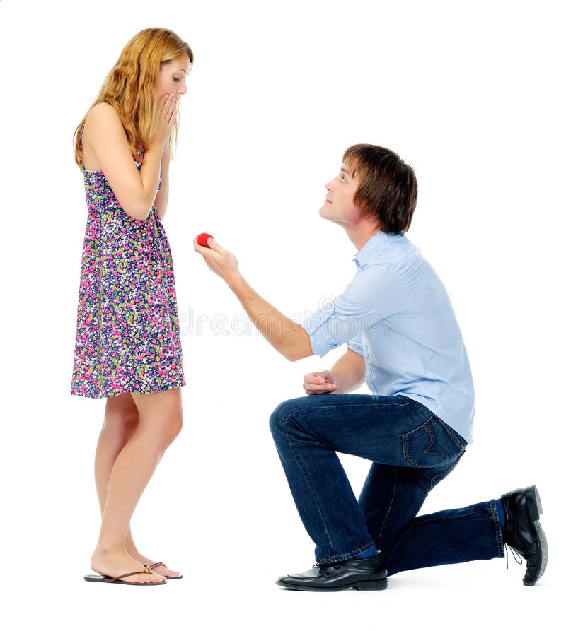 Valentines day proposal stock images