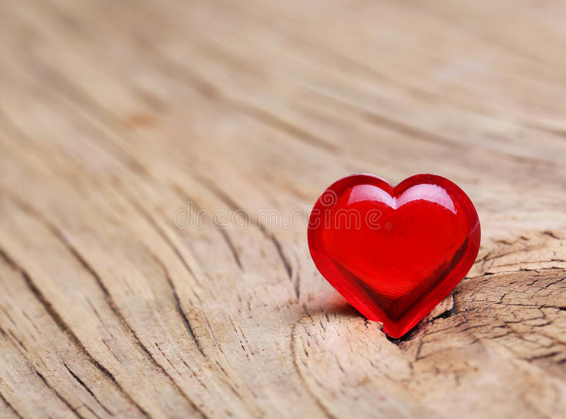 Valentines Day. Red Heart on Wooden background. Macro. Valentines Day. Red Heart on Wooden. Macro stock photography