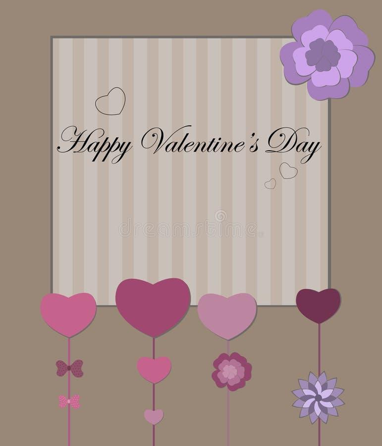 Valentines Day retro card stock photo
