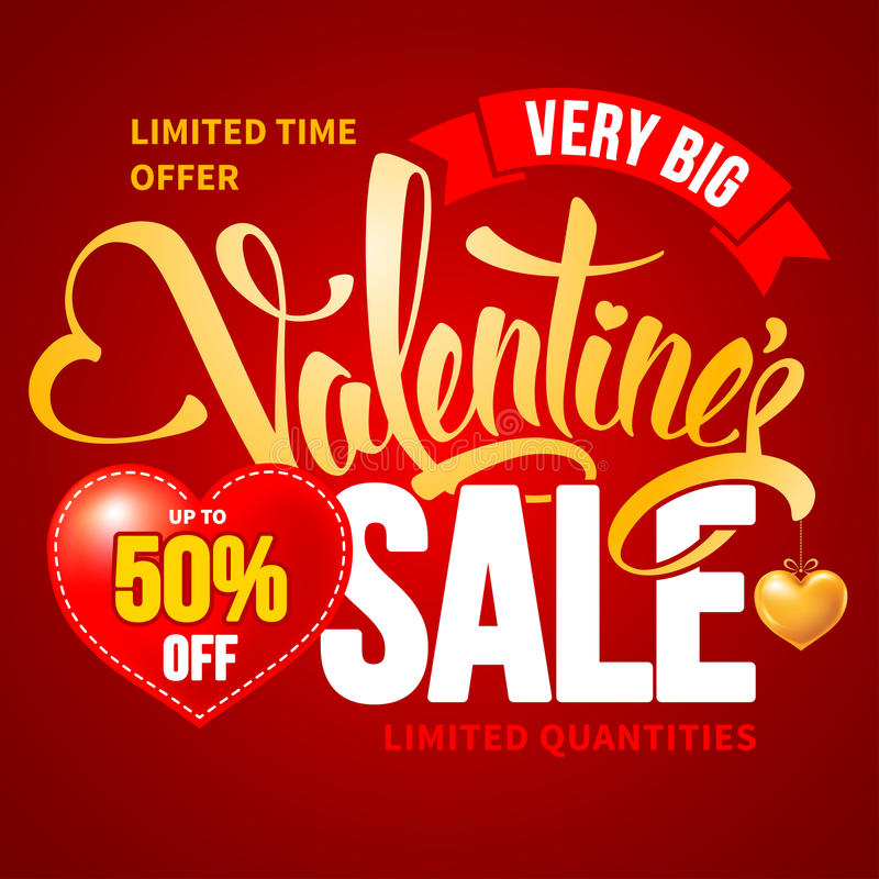 Valentines Day Sale stock illustration
