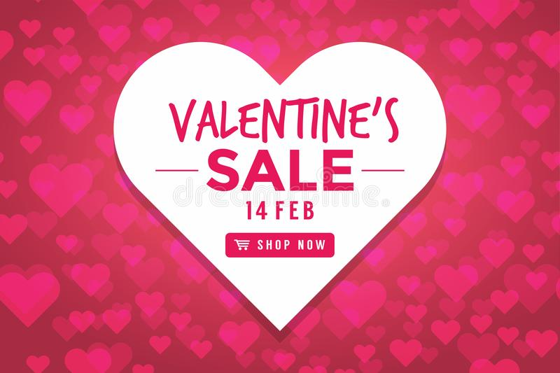 Valentines day sale background with Heart Shaped. Vector illustration vector illustration