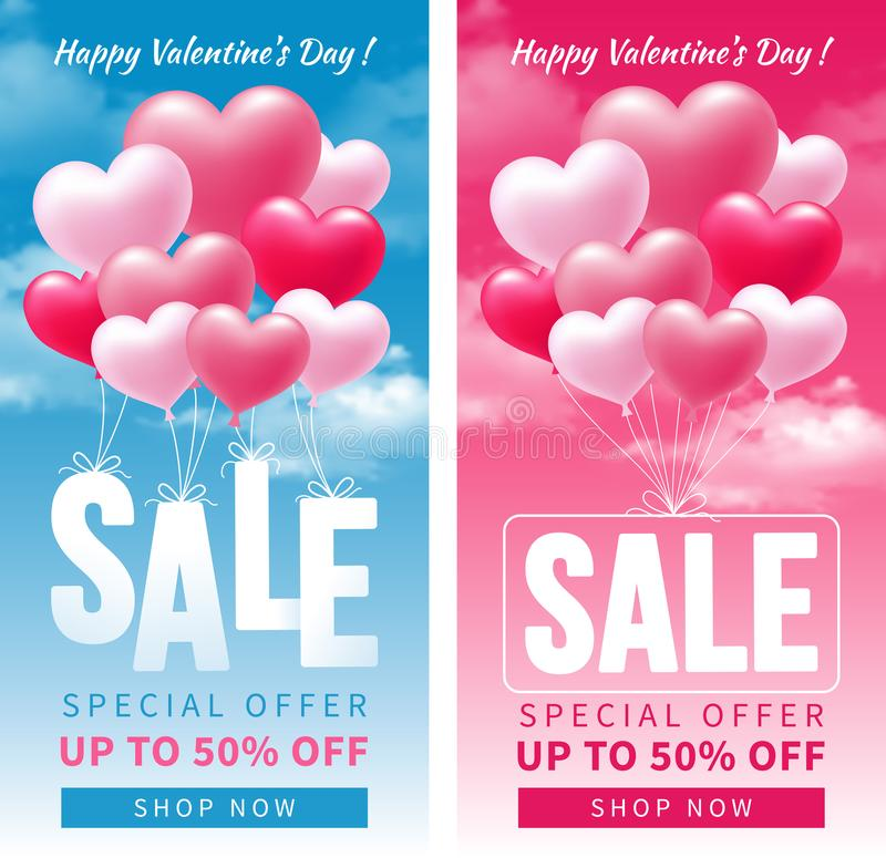Valentines day sale vector illustration