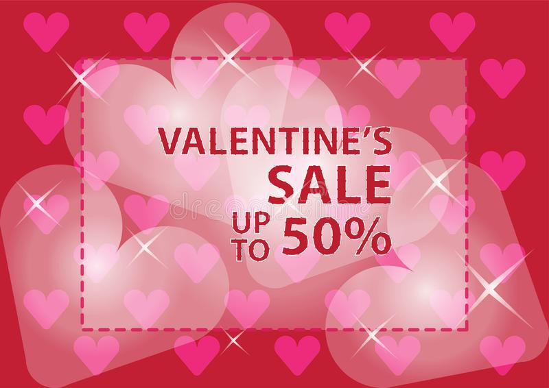 Valentines day sale poster and banner royalty free stock photos