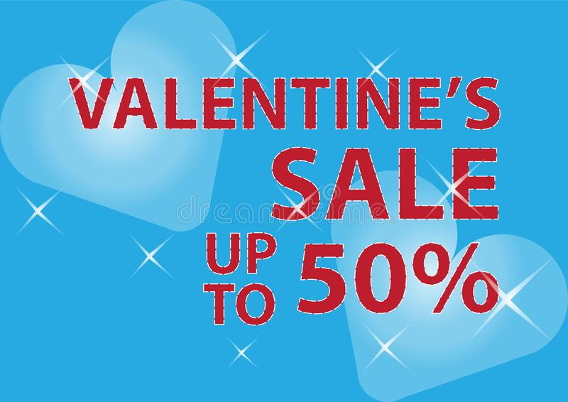 Valentines day sale poster and banner stock photo
