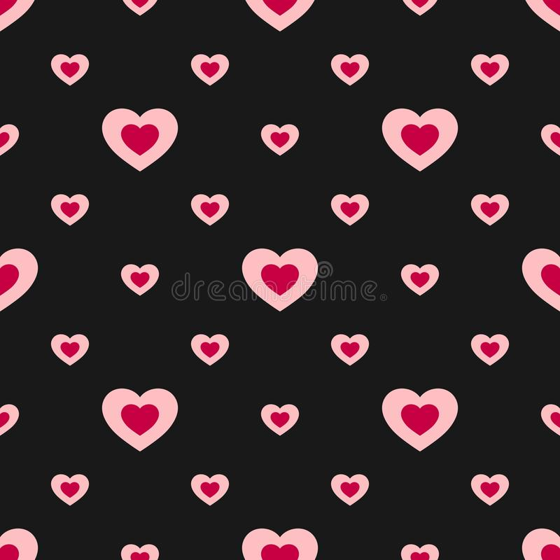 Valentines day vector seamless pattern with colorful hearts. Love pattern. Valentines pattern. Hearts background. vector illustration
