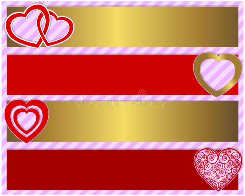 Download Valentines Day Set Of Four Banners Stock Vector - Image: 28609363