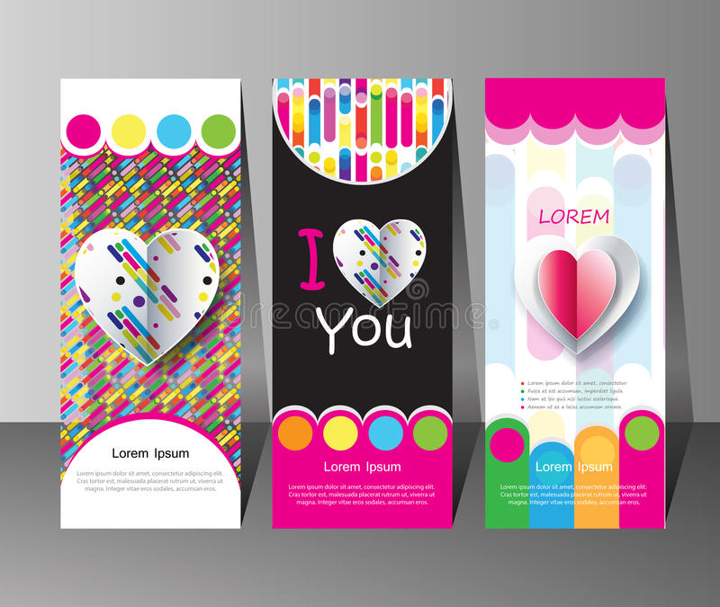 Awesome Summer banners set royalty free illustration