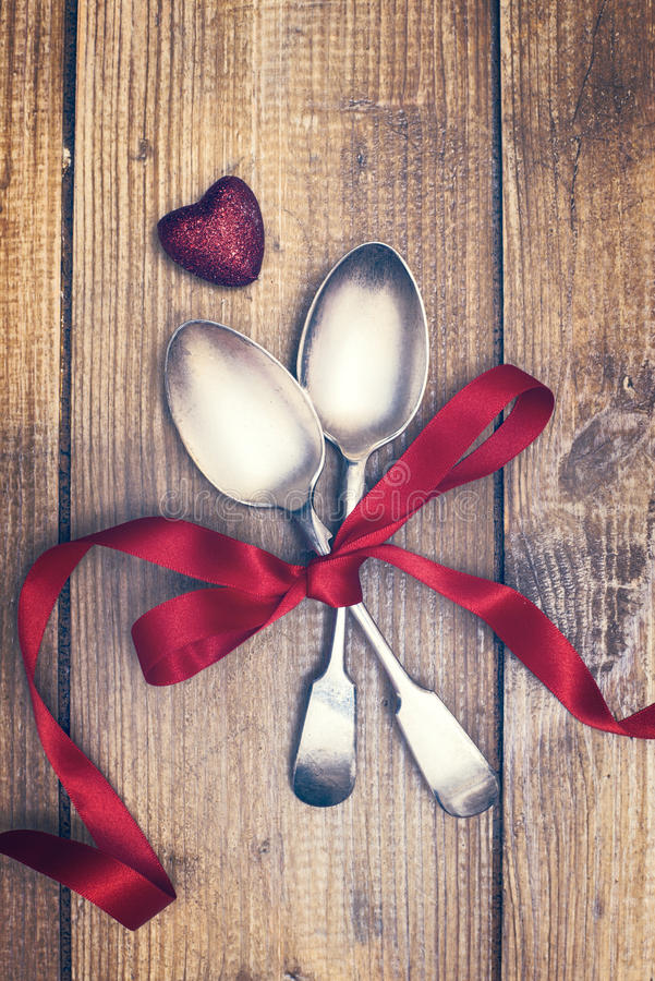 Free Valentines Day Spoons Royalty Free Stock Image - 36611146