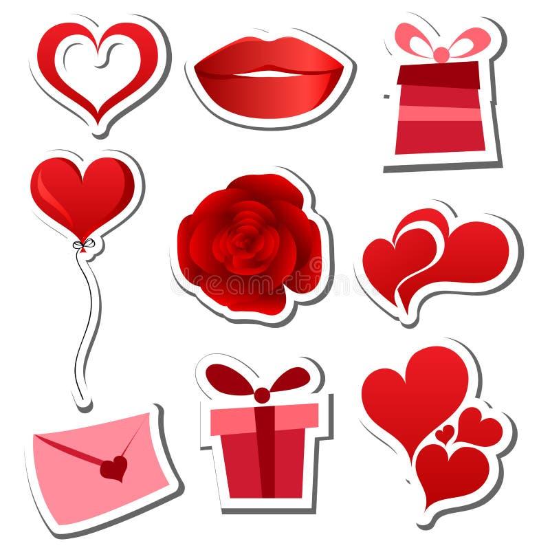 Download Valentines day sticker set stock vector. Illustration of pattern - 28950855