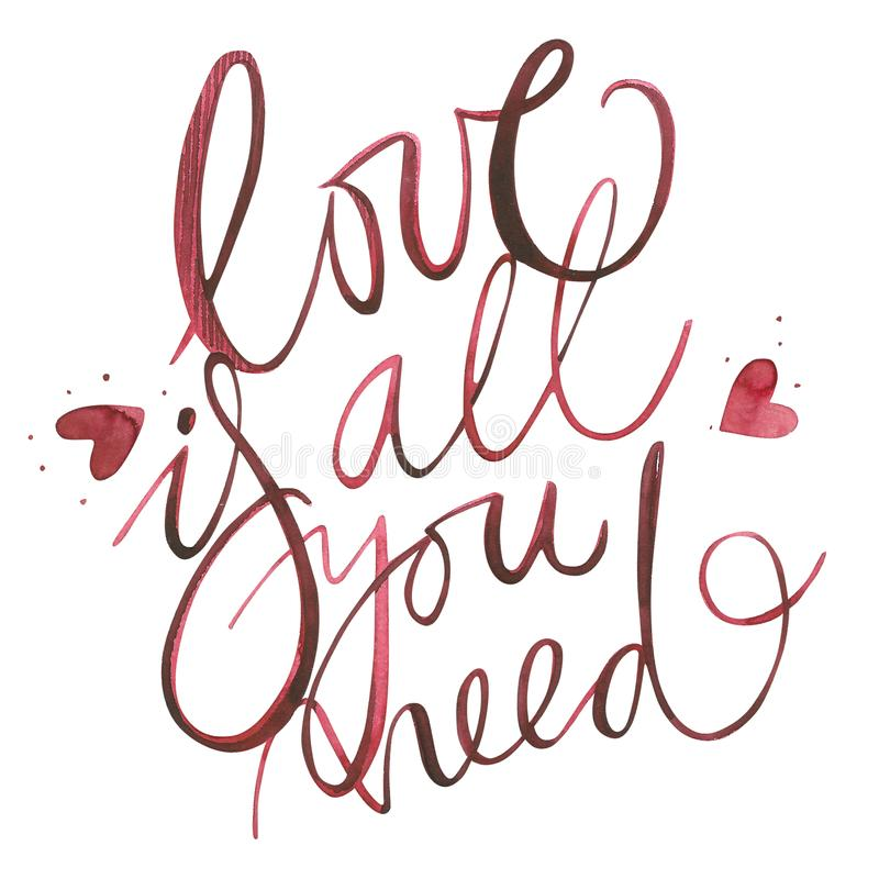 Fabulous Valentines Day Text. Love Is All You Need. Romantic Quote For  HT12