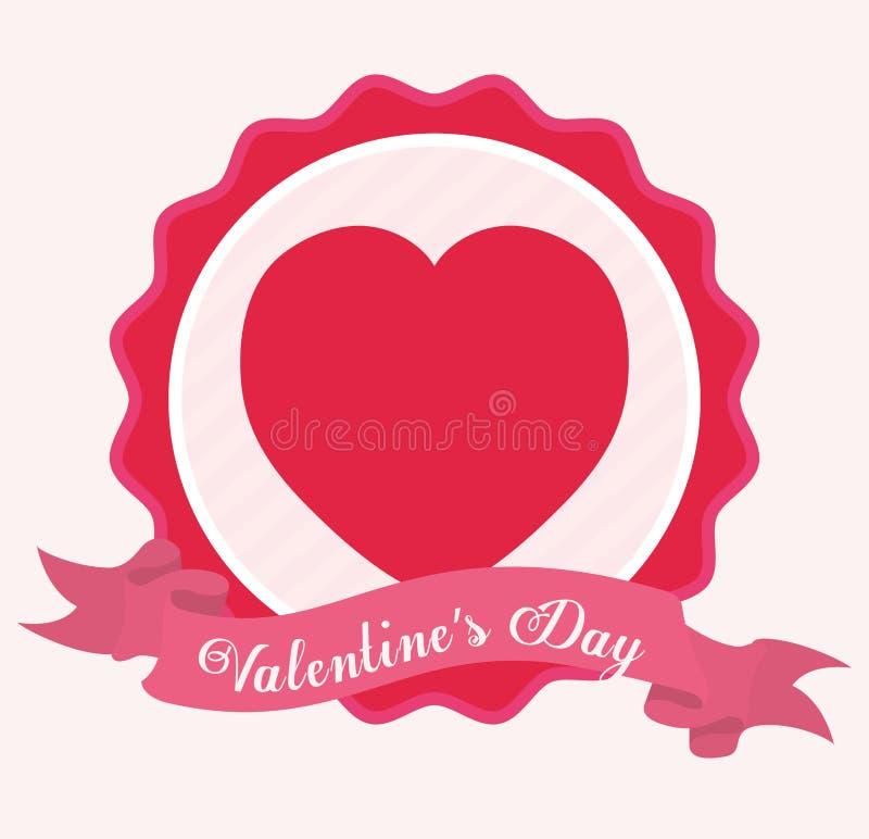 Valentines day themed image. Valentines day themed emblem image illustration design stock illustration