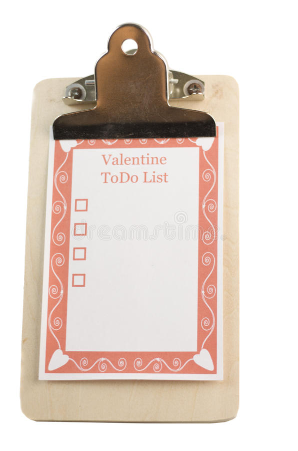 Download Valentines day todo list stock image. Image of symbol - 12391673