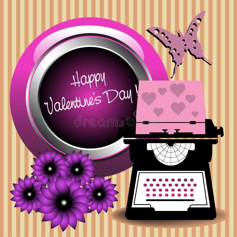 Valentines Day typewriter tool stock photo