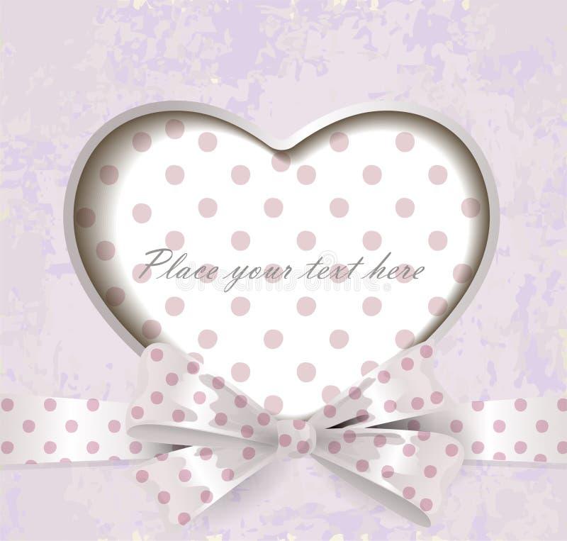 Valentines day vintage lettering background vector illustration
