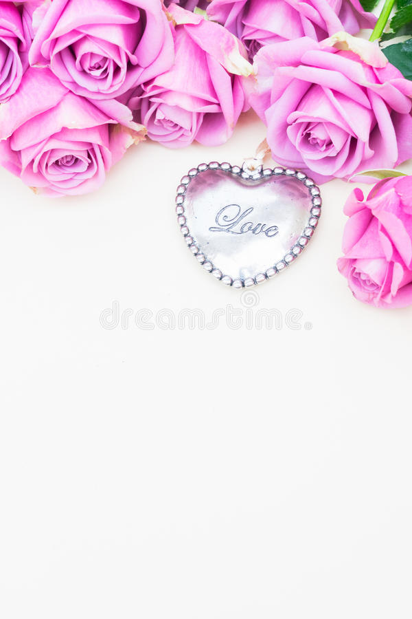 Valentines day violet roses royalty free stock images