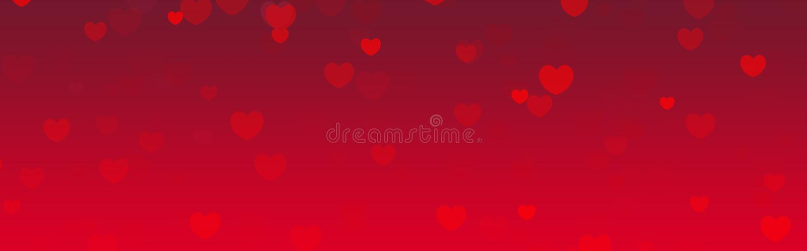 Valentines day web header vector illustration