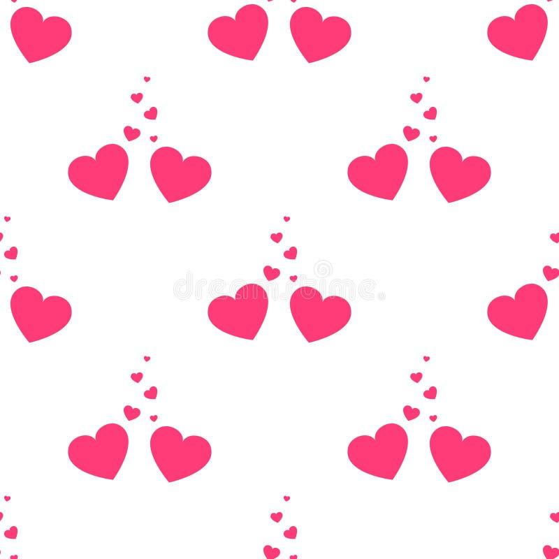 Valentines de vecteur aimant le modèle sans couture de coeurs Fond de mariage Élément de conception d'amour et de passion illustration stock
