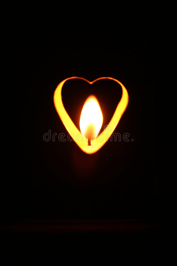 valentines Flame in a heart stock photography