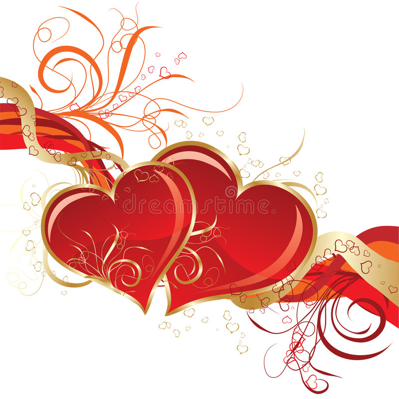 Valentines fond, vecteur illustration stock