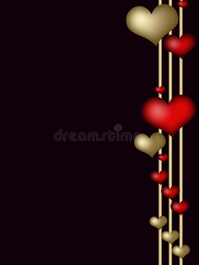 Download Valentines Frame With  Hearts Stock Photo - Image: 17930362