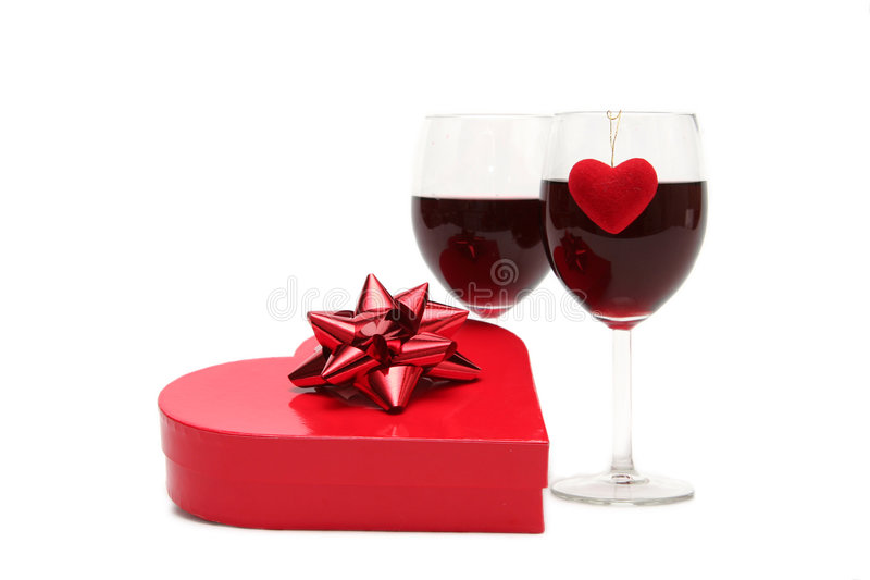 Valentines gift. On a white background royalty free stock photography