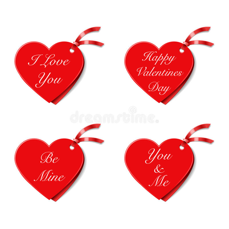 Download Valentines Gift Tags stock vector. Image of design, valentines - 37052463