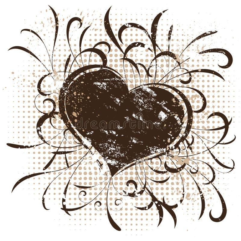 Valentines grunges illustration stock