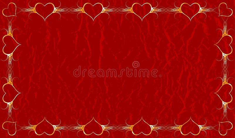 Valentines grunges fond, vecteur illustration libre de droits