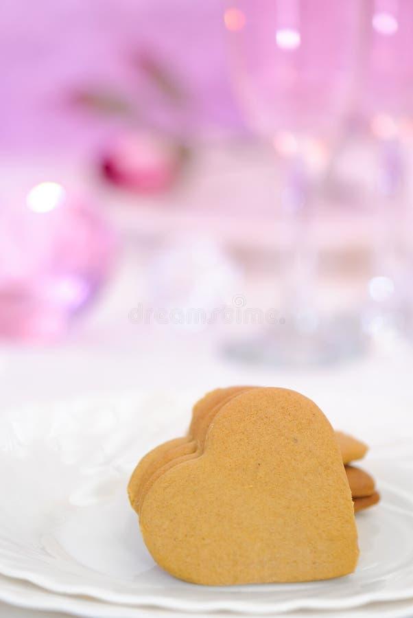 Valentines Heart Cookies stock photos