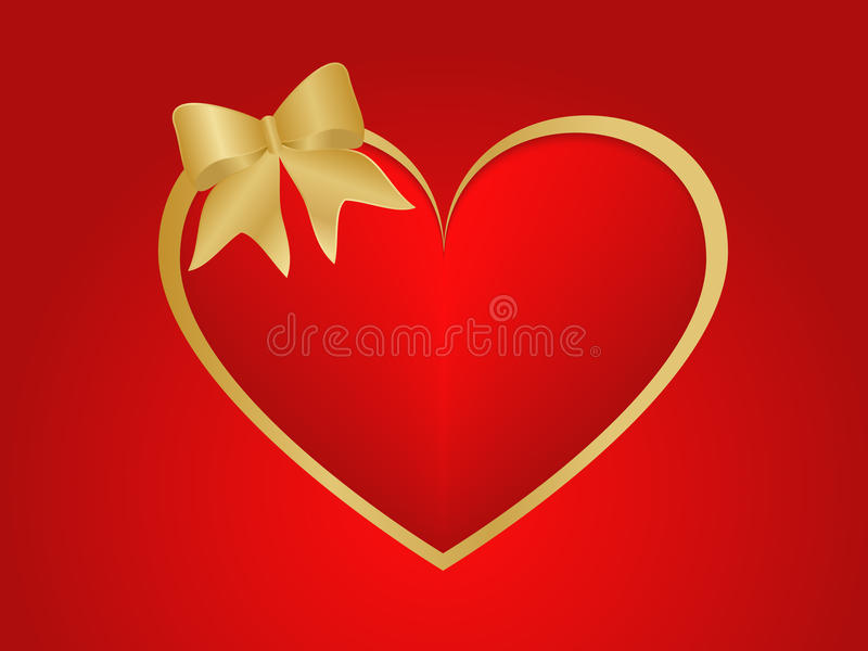 Valentines heart and ribbon royalty free stock photography