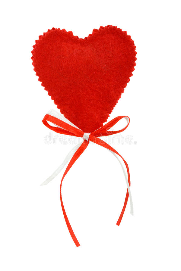 Valentines heart with ribbons stock photo