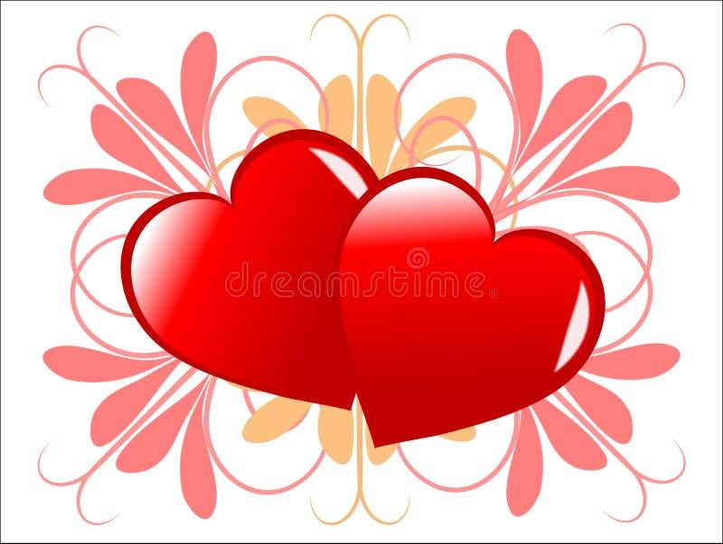 Valentines hearts Background stock illustration