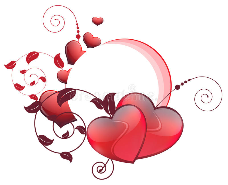 Download Valentines Hearts And Floral Elements Stock Vector - Illustration: 22948485