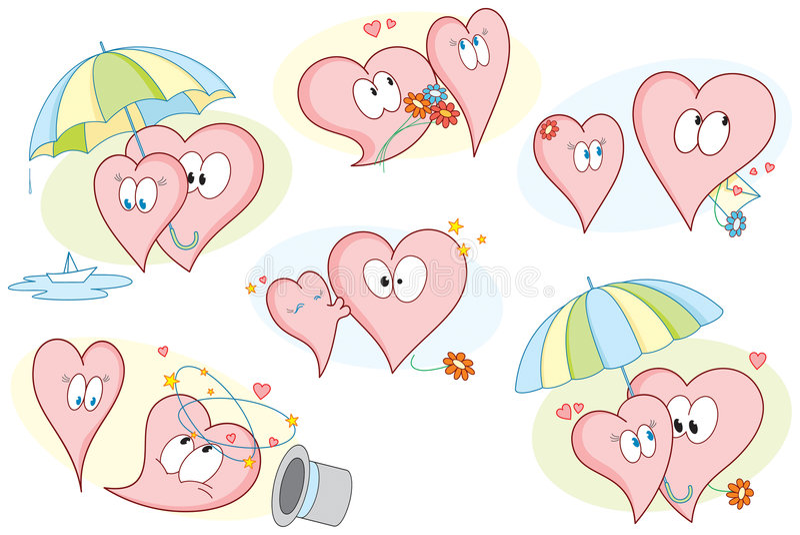 Valentines_hearts_pack royalty illustrazione gratis