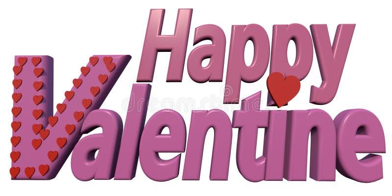 Valentines heureux illustration stock